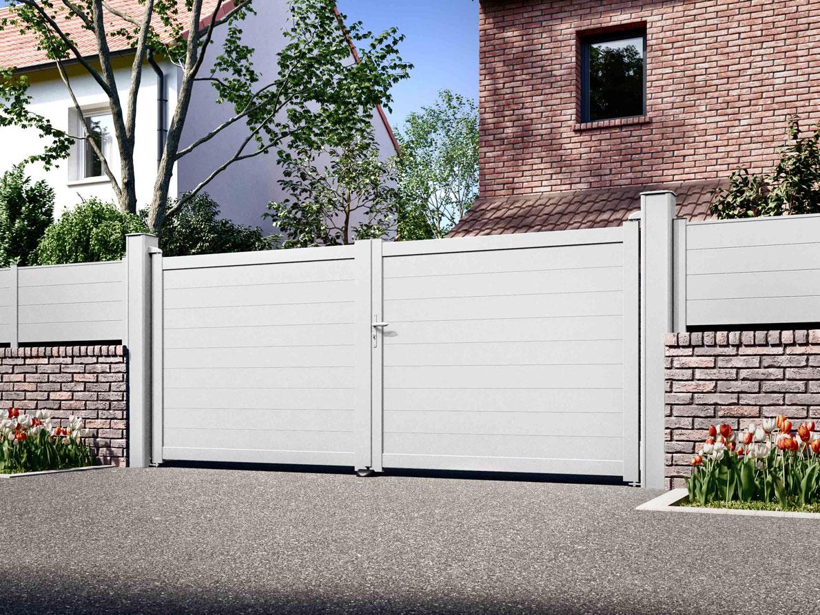 Portail aluminium Bravo par Ceklo