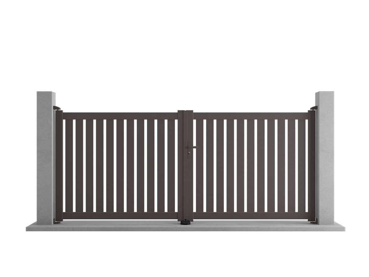 Portail aluminium Salto par Ceklo
