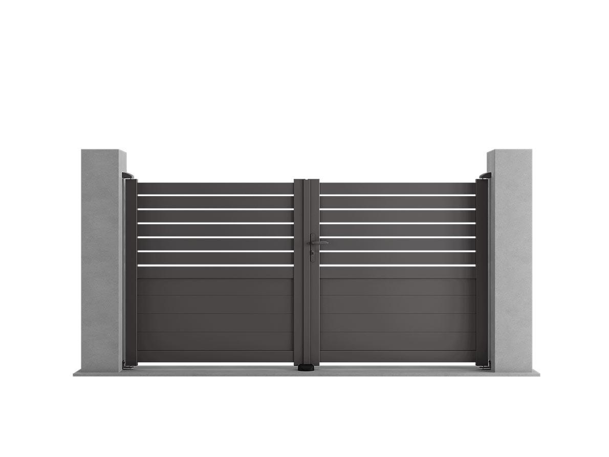 Portail aluminium Sango par Ceklo