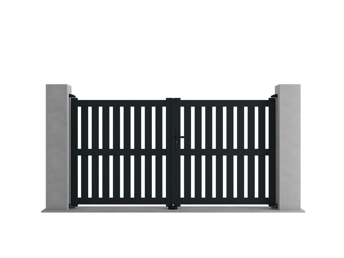 Portail aluminium Shako par Ceklo