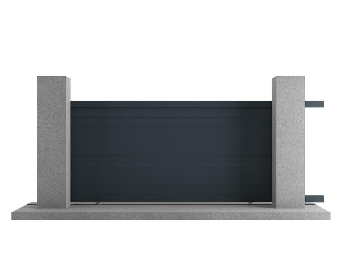 Portail aluminium Kendo par Ceklo
