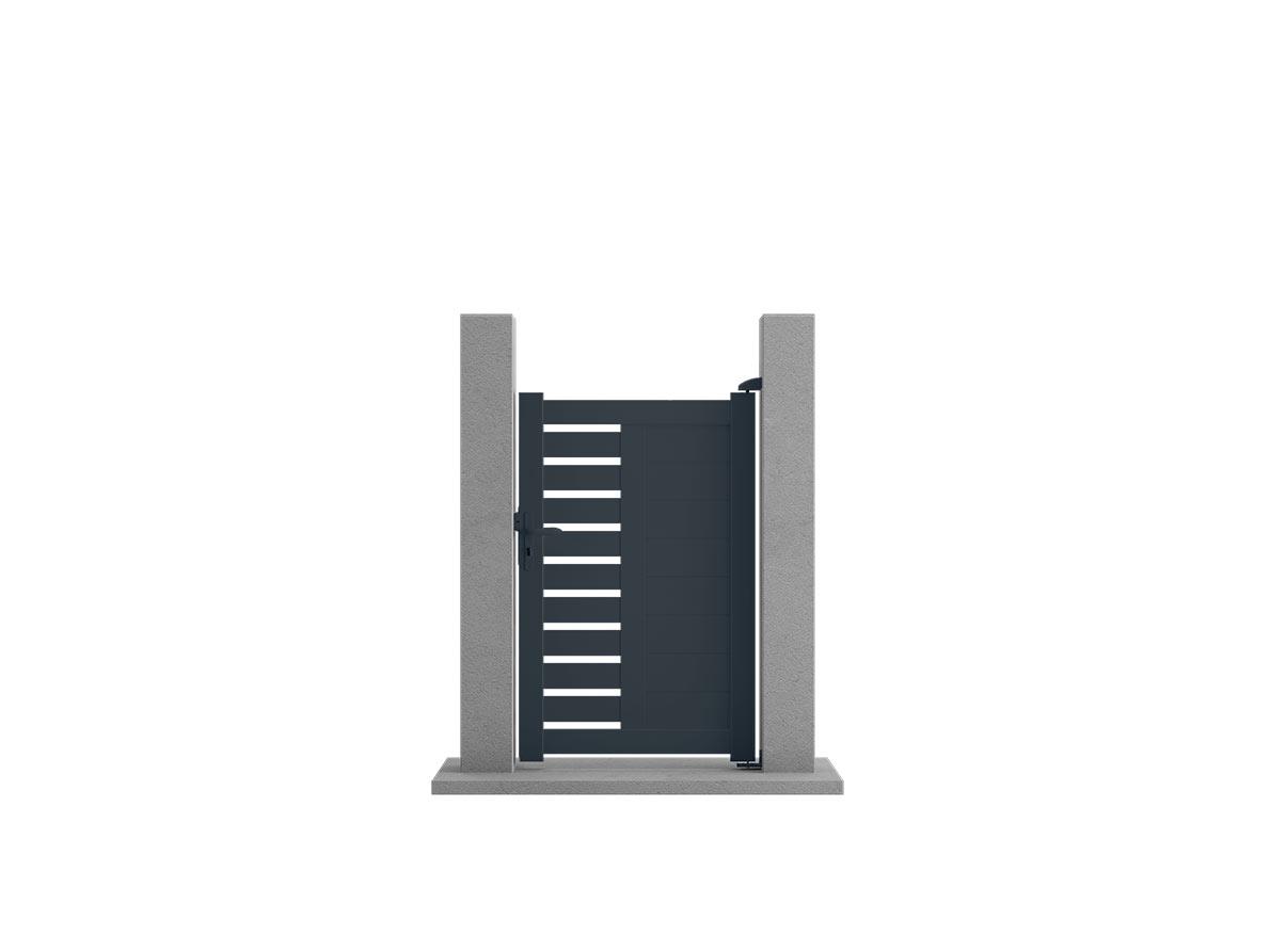 Portillon aluminium Campo par Ceklo