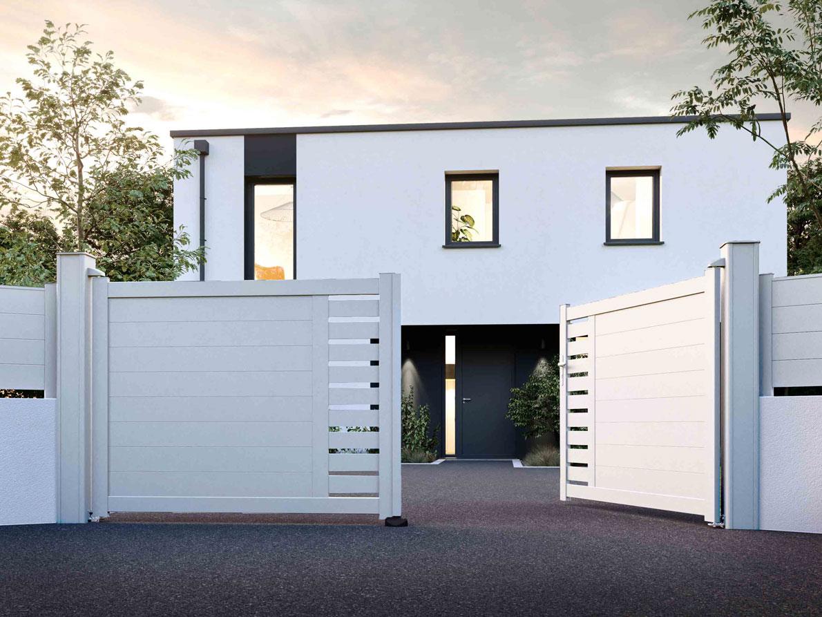 Portail aluminium Campo par Ceklo