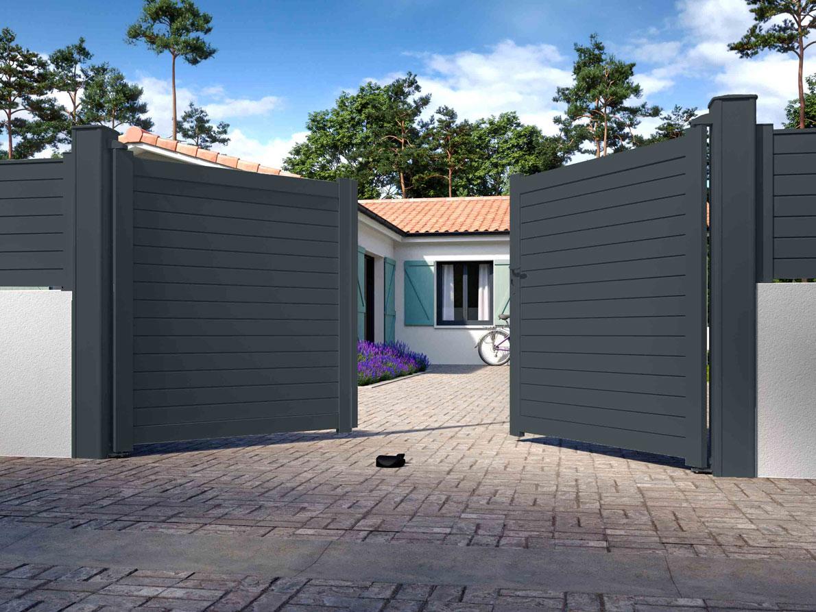 Portail aluminium Patio par Ceklo