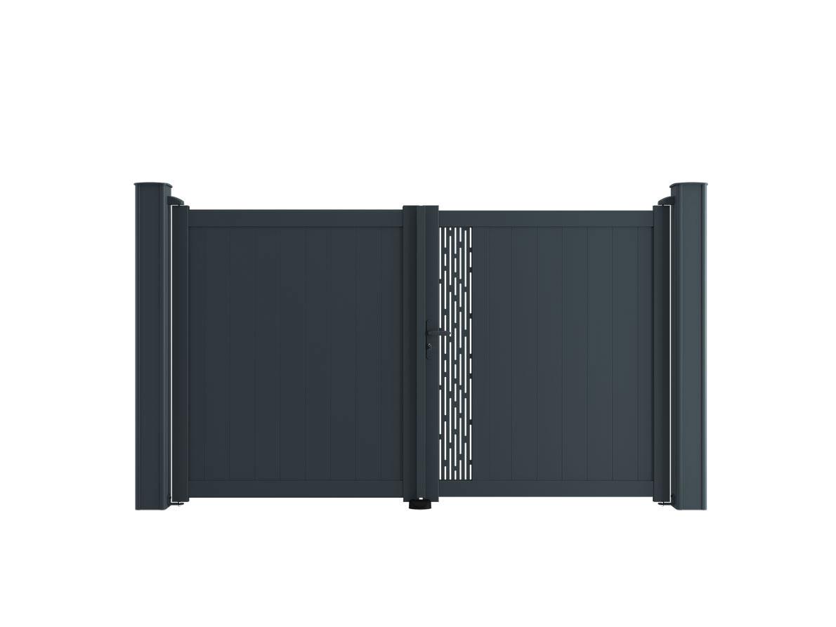 Portail aluminium Base Tango par Ceklo