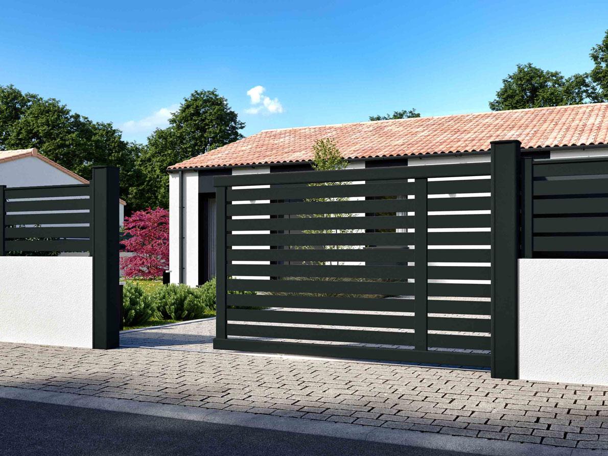 Portail aluminium Bosco par Ceklo